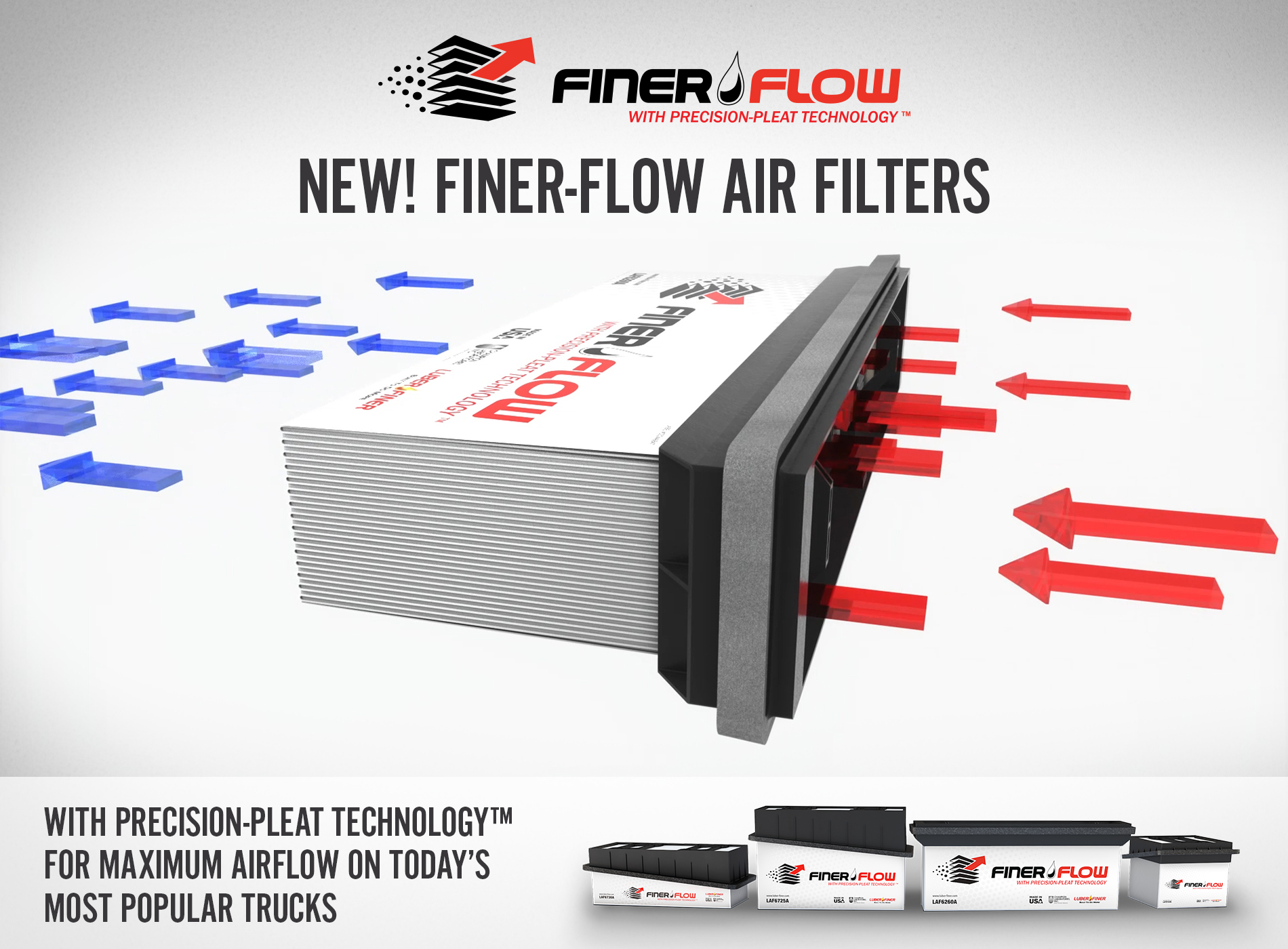 Image LUBER-FINER® LAUNCHES NEW FINER-FLOW HEAVY-DUTY AIR FILTERS TO MEET OR EXCEED OE RECOMMENDED CHANGE INTERVALS
